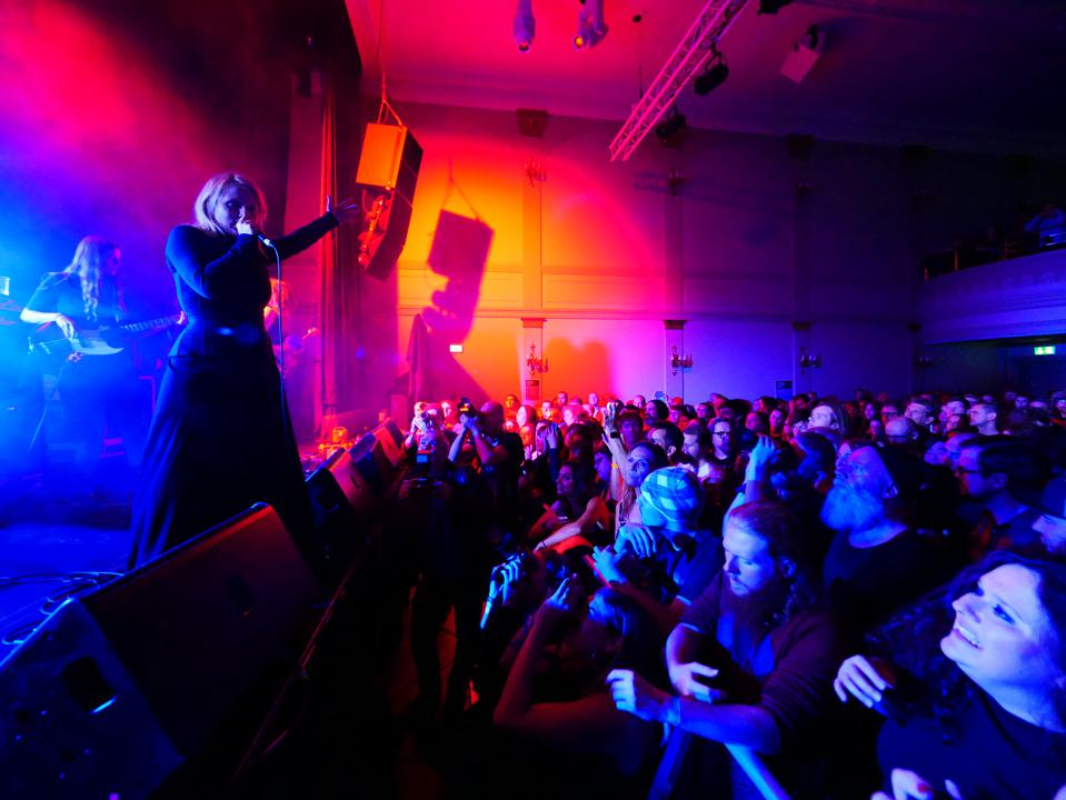 Indie band Mammút on stage at Gamla Bió during Iceland Airwaves 2018