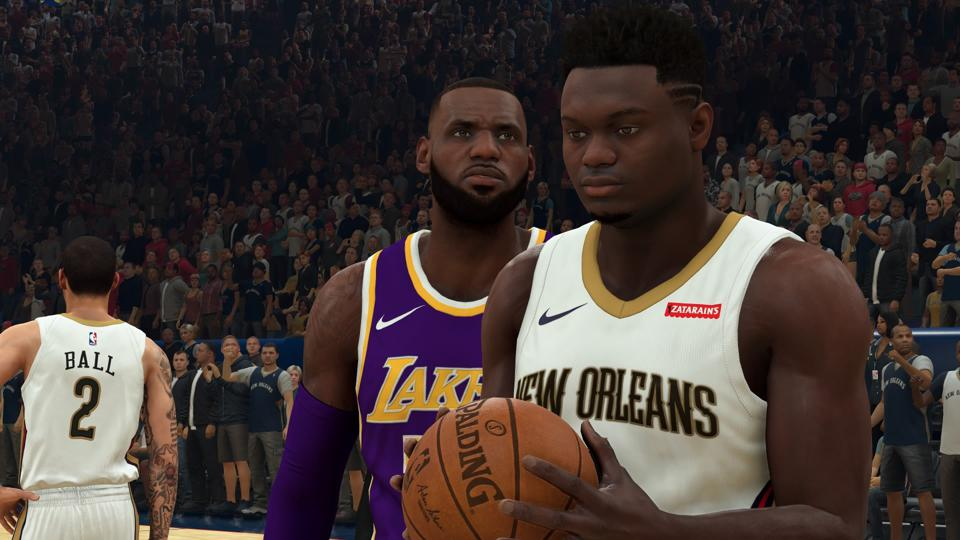 NBA 2K20 LeBron and Zion