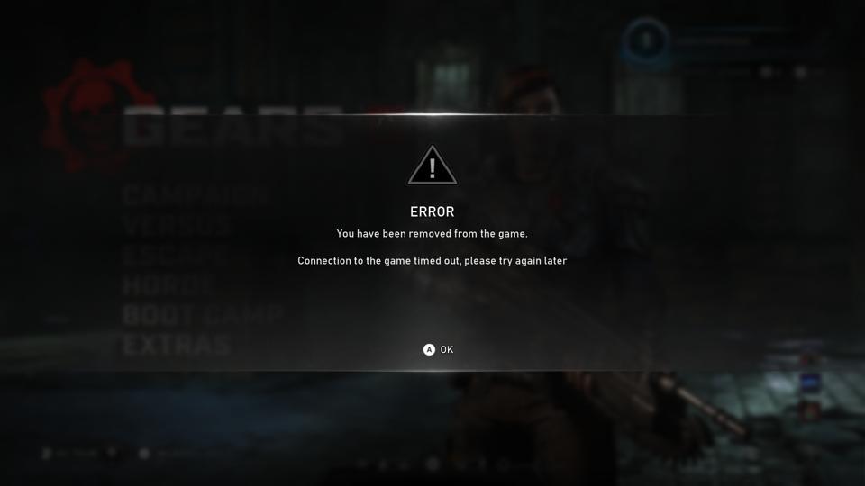 Server error on Gears 5.