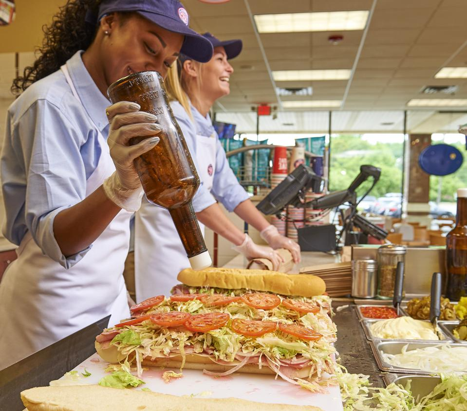 Jersey Mike's ″Brand Promise Day″ training.