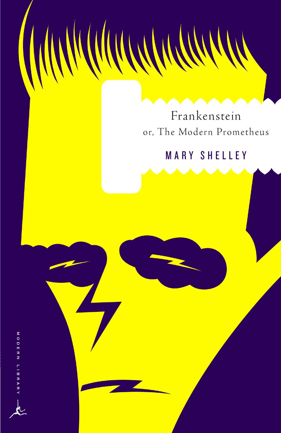mary shelley modern prometheus frankenstein book cover emily mahon modern library classics