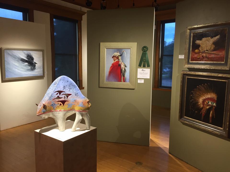 'A Timeless Legacy: Women Artist of Glacier National Park' installation view at Hockaday Musuem of Art, Kalispell, Montana.