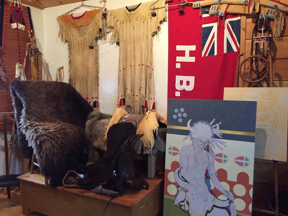 Inside artist Tom Saubert's Kalispell, Montana studio.