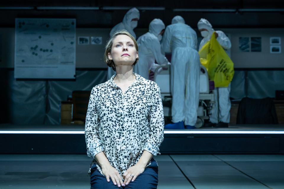 MyAnna Buring as Marina Litvinenko in A Very Expensive Poison at the Old Vic