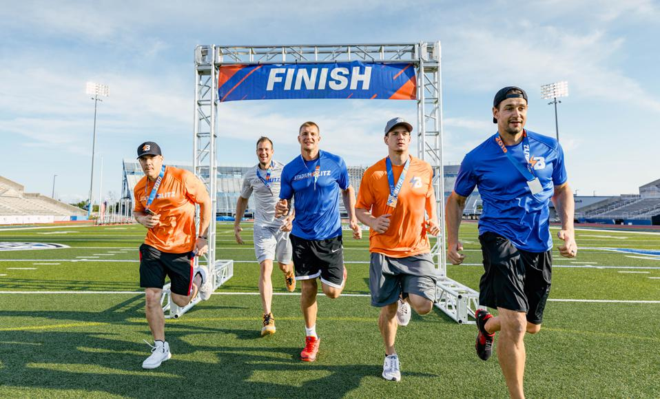 The Gronkowski brothers have partnered with Stadium Blitz to bring a new wrinkle to obstacle course-based racing.