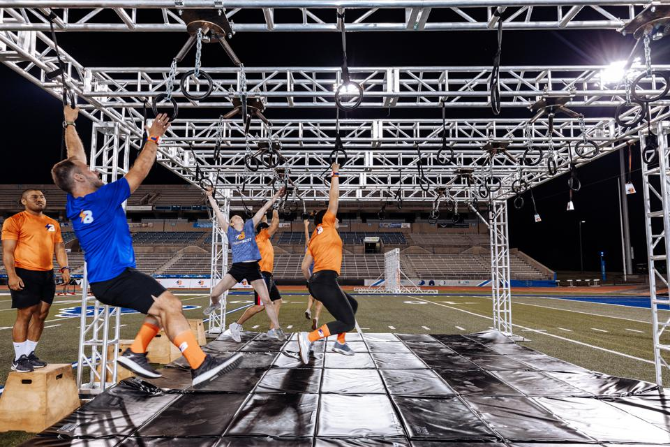 Participants can challenge themselves at as few or many obstacles as they want.