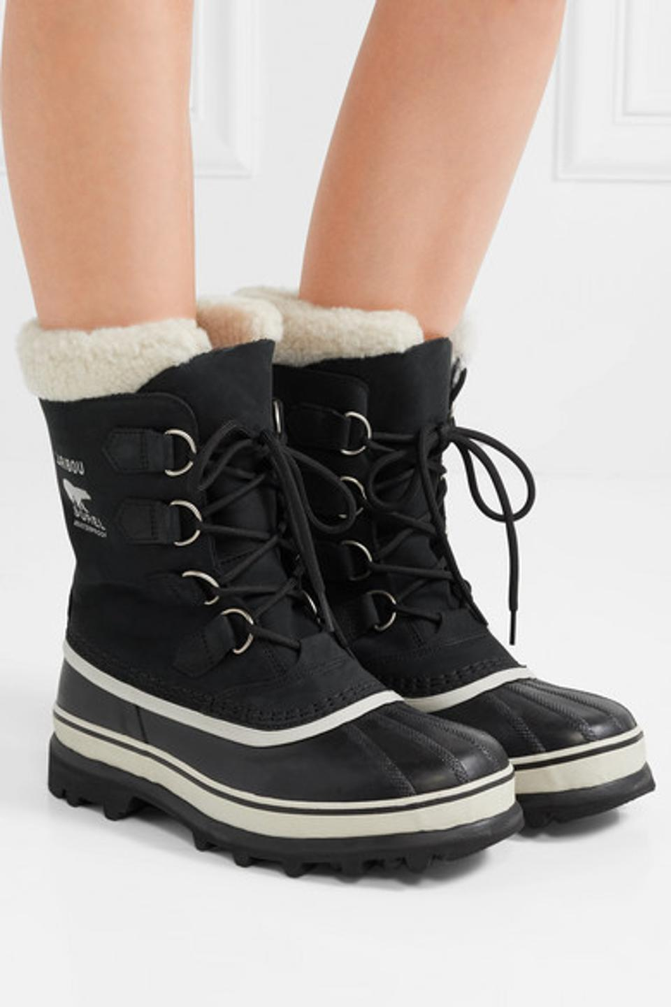 Women Winter High-top Boots Suede Ankle Waterproof Snow Boots Lace-Up Shoes WQ