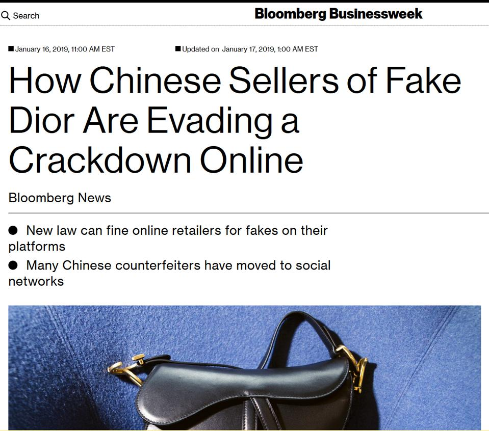 Bloomberg story on new Chinese law