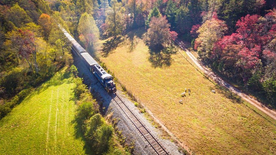 Blue Ridge Scenic Railway fall foliage