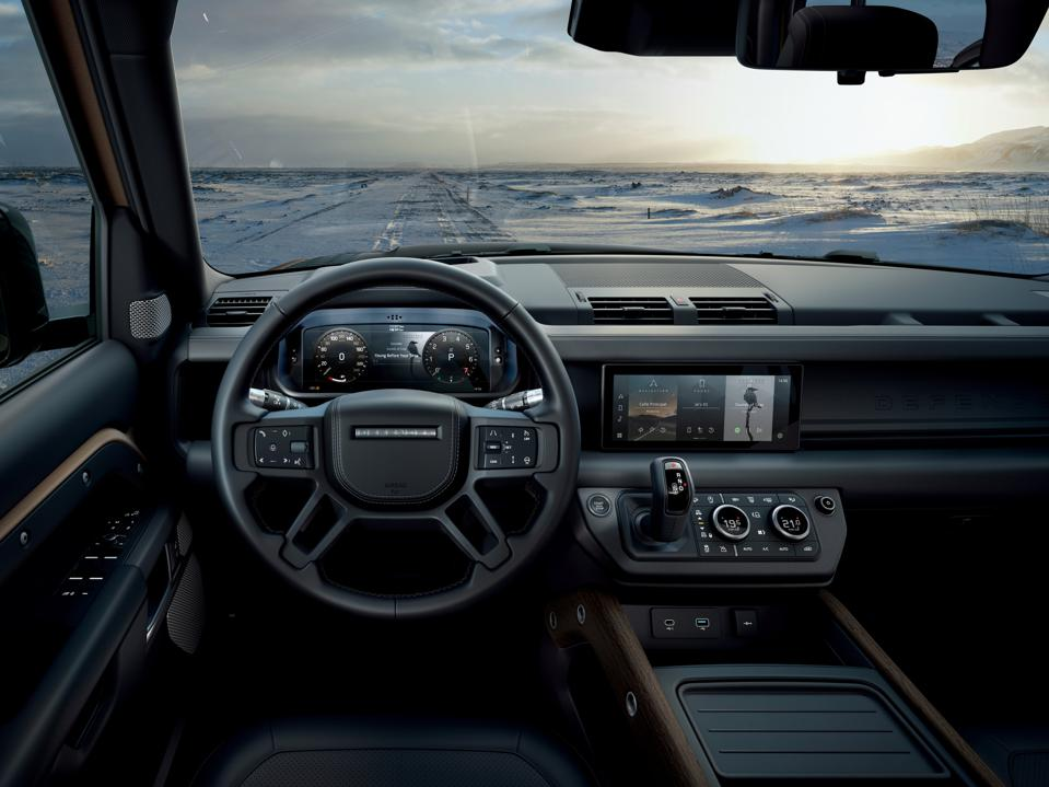 The interior of Land Rover's new 2020 Defender.