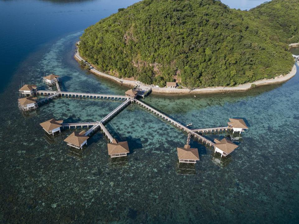 Aerial view of Sunlight Eco Tourism Island Resort
