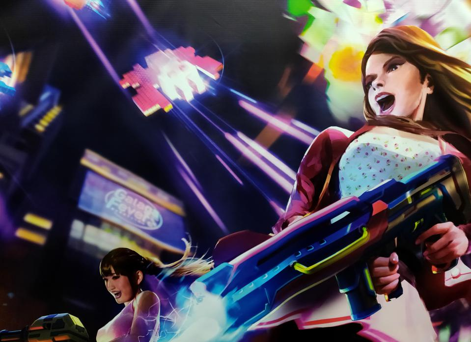 The promotional poster for Galaga Fever