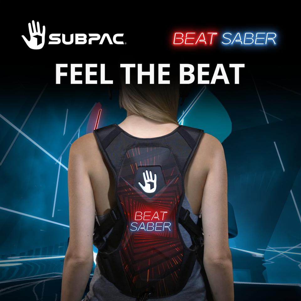 The co-branded audio wearable, created as a collaboration between Beat Games and SUPBAC