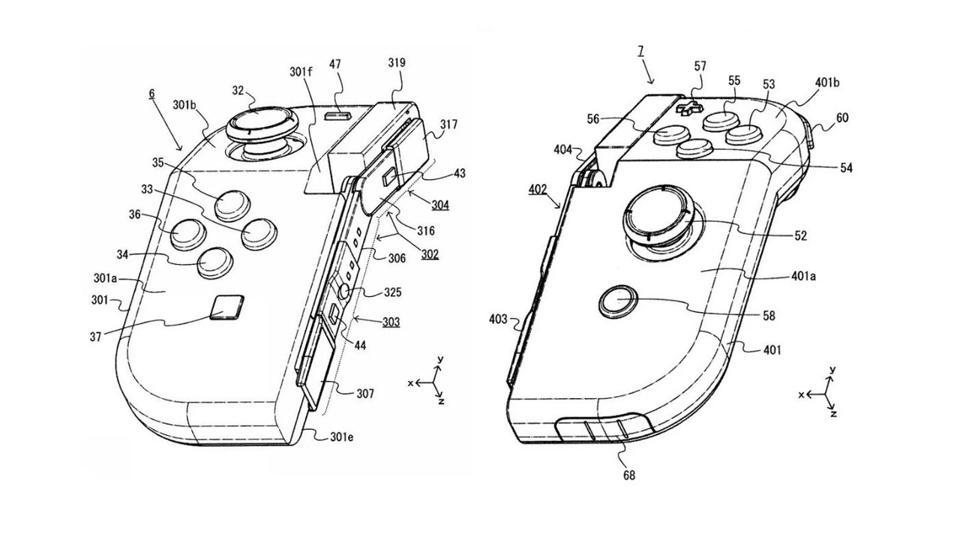 Nintendo Has Filed A Patent For Some New Hinged Joy-Con Controllers