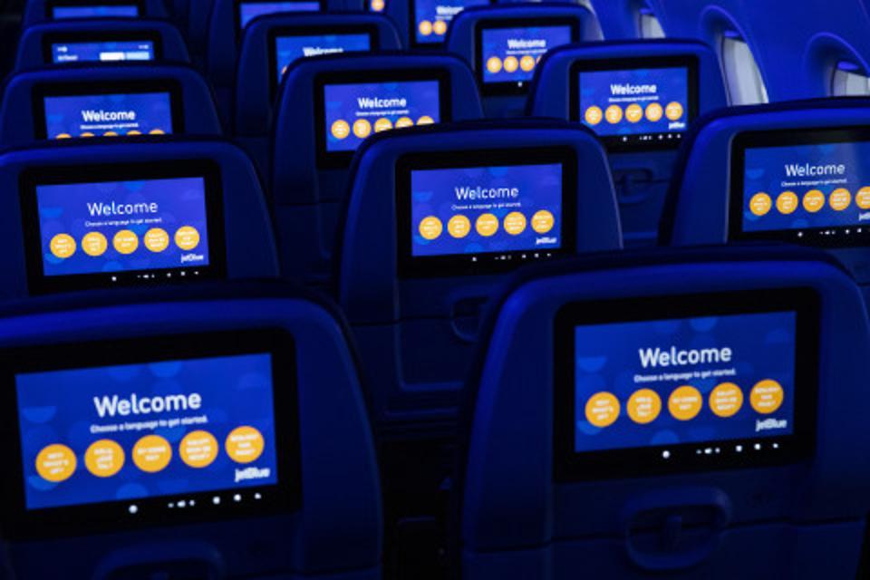 JetBlue seat screens.