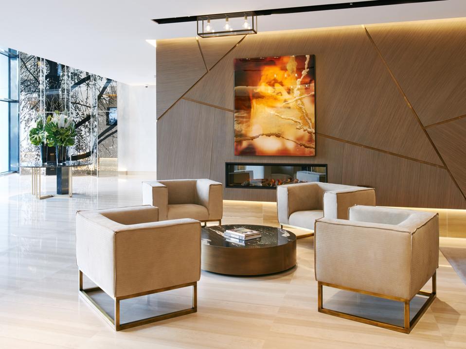 The VP Plaza España Design hotel's lobby area.