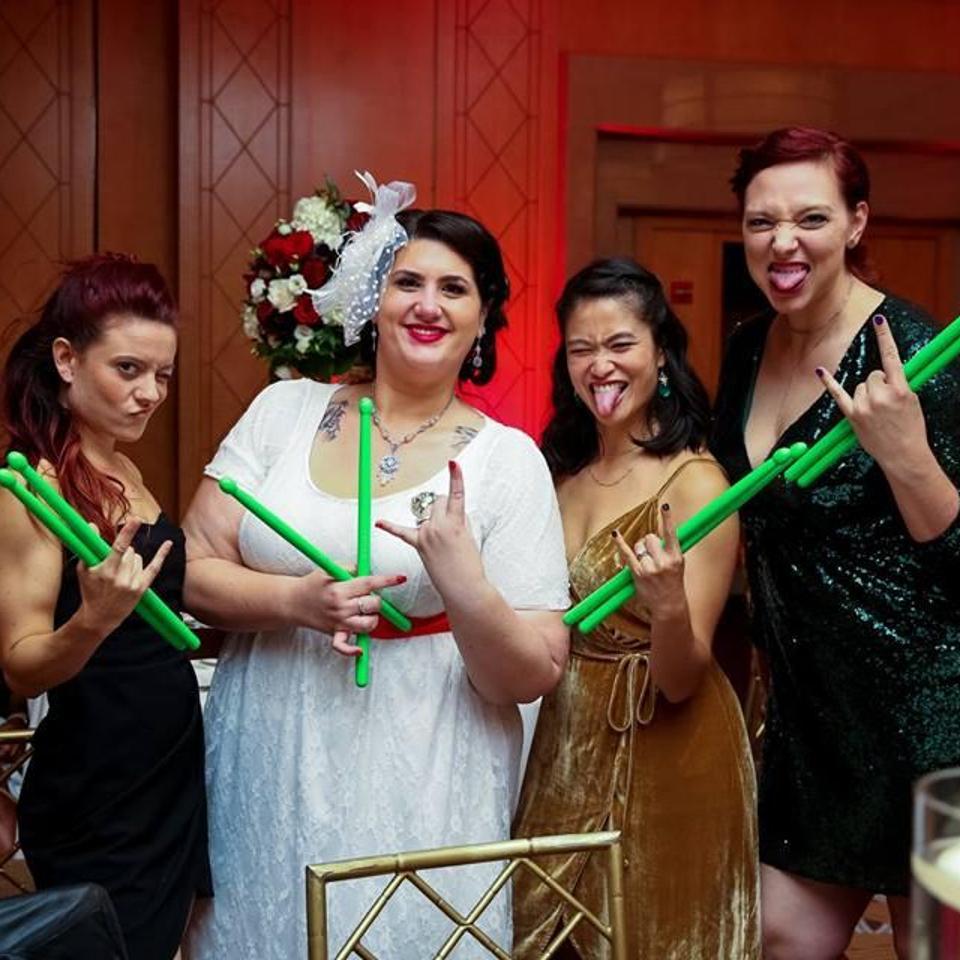 Melissa Fortner at her wedding