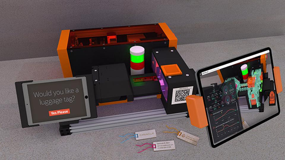 Oracle IoT architect Jasper Potts has built a next-generation personalized manufacturing demo along with an augmented reality X-ray display, which he'll unveil in San Francisco September 16 to 19 during Oracle Code One.