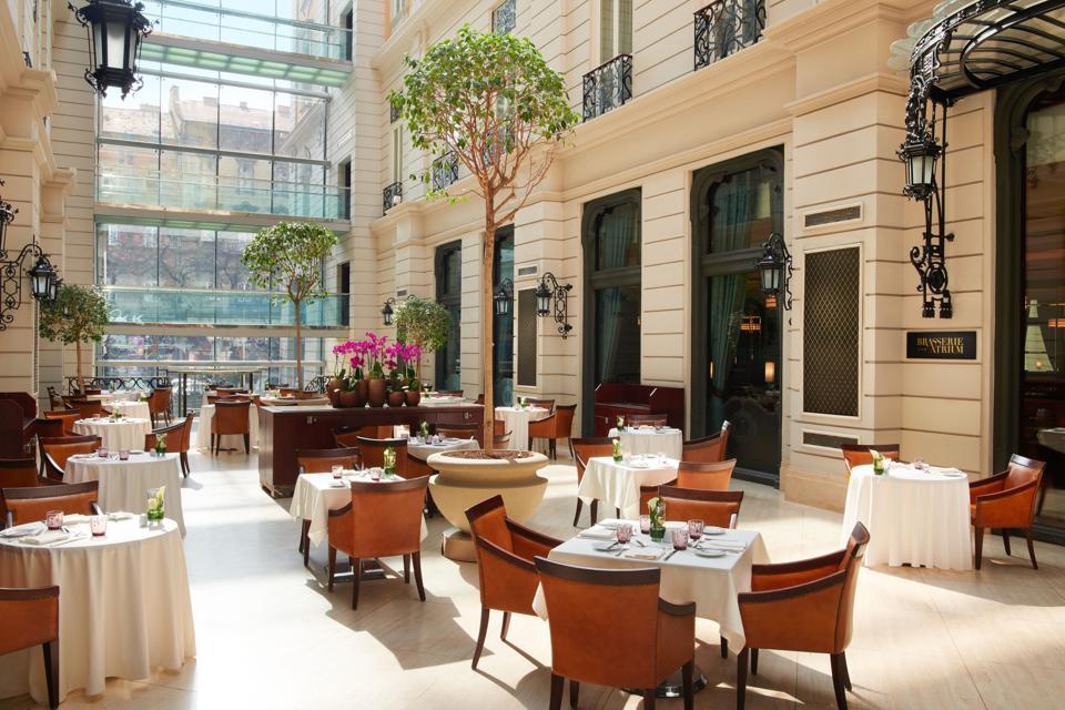 The Atrium Restaurant at the Corinthia Budapest