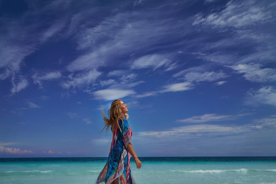 Fredrickson on a beach