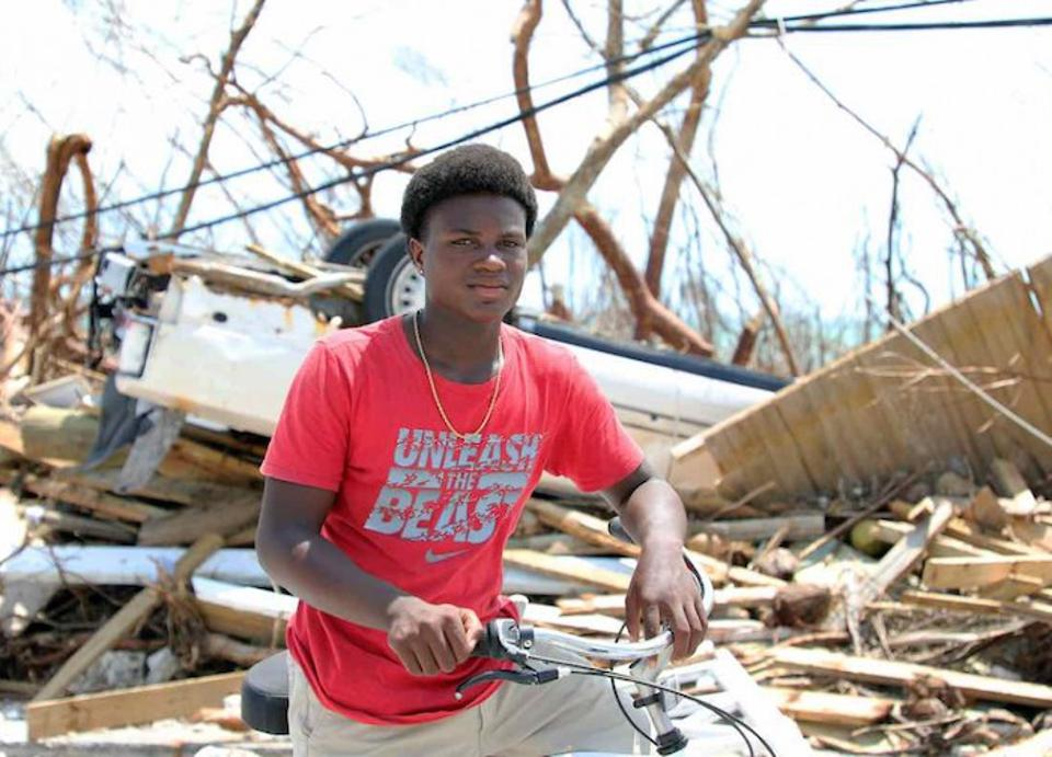 On September 6, 15-year-old Benson rode his bicycle around town to see what had become of his home. ″Everything is destroyed, every school,″ he says. ″There is no water to drink.″
