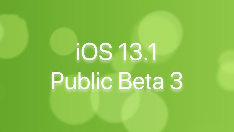 iOS 13.1 Public Beta 3