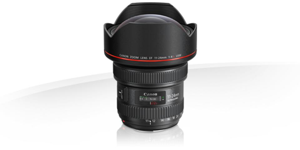 Canon's ultrawide 11-24mm f/4 from their L series