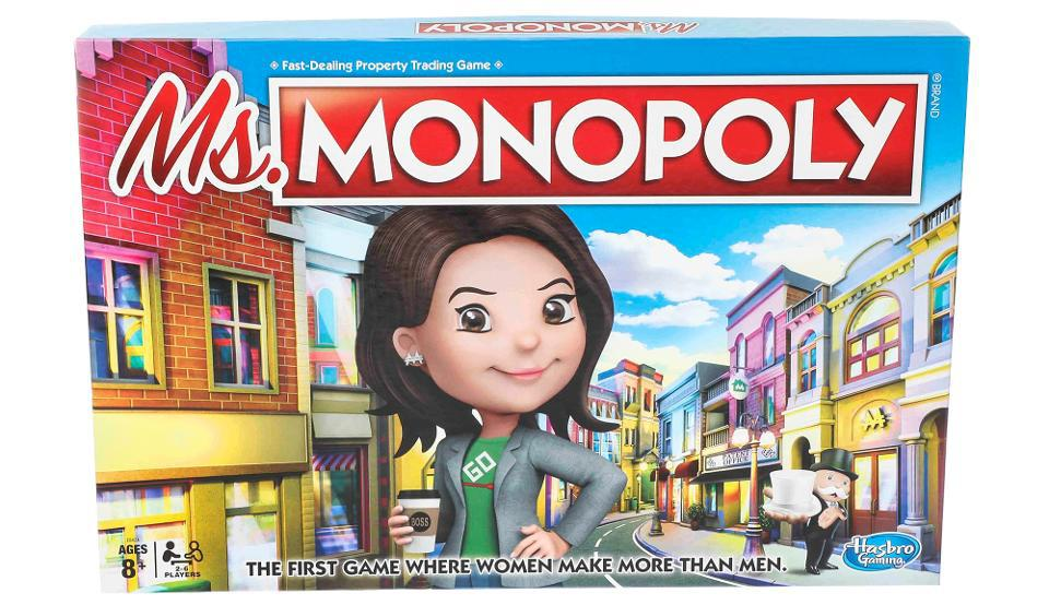 Hasbro is releasing Ms. Monopoly where women make more money than men.