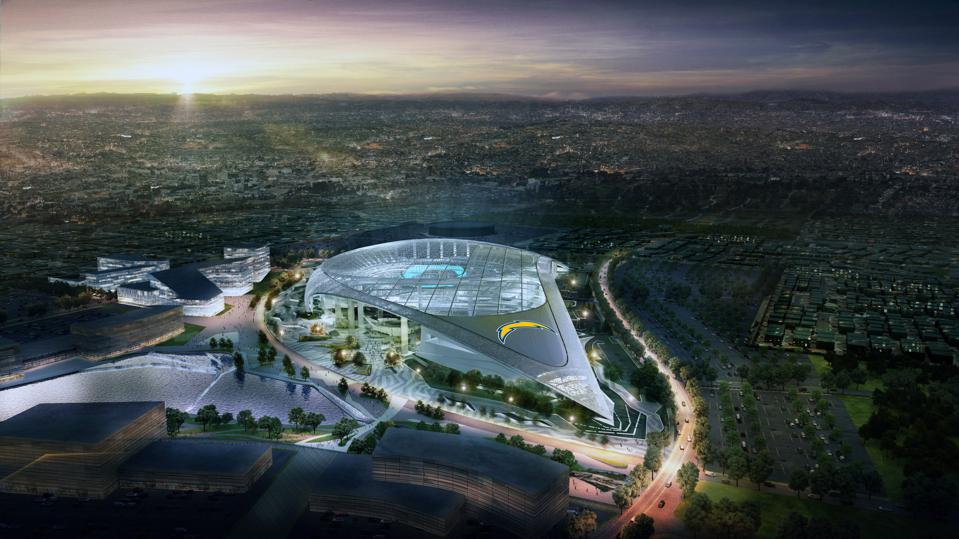 The Los Angeles Chargers move into LA Stadium at Hollywood Park for the 2020 NFL season.