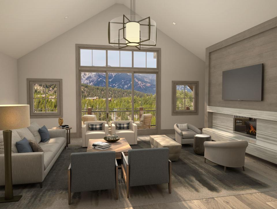 Montage Big Sky Residences come complete with designer finishes and lighting, fireplaces in the living room and master bedroom.