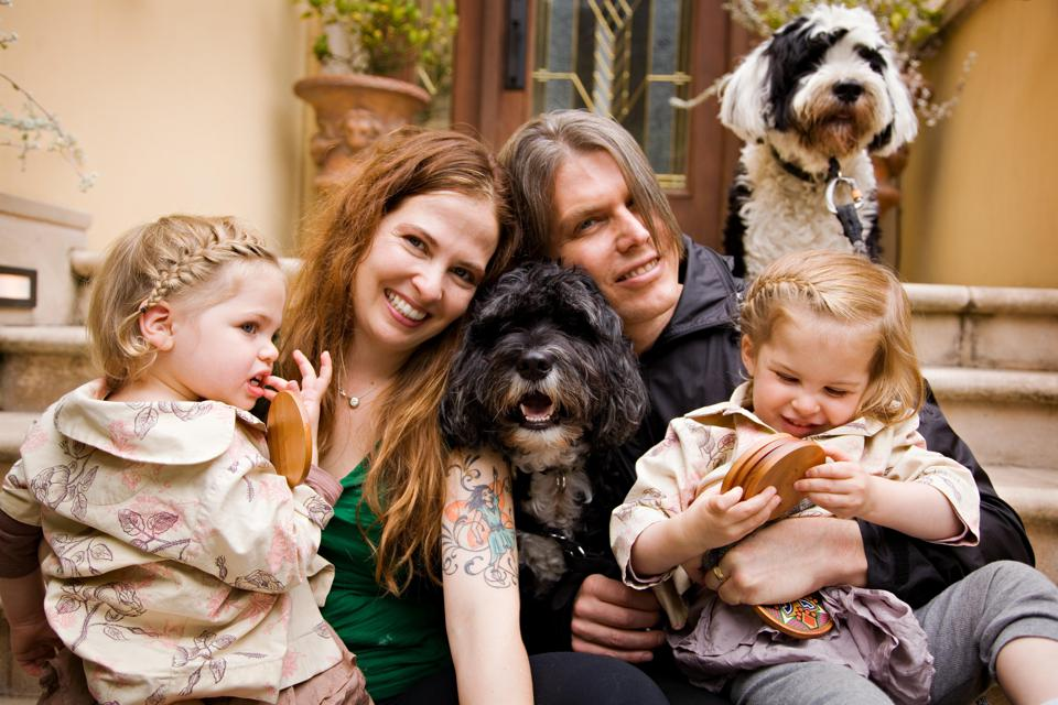 Pawscout founder and CEO Andrea Chavez with her family.