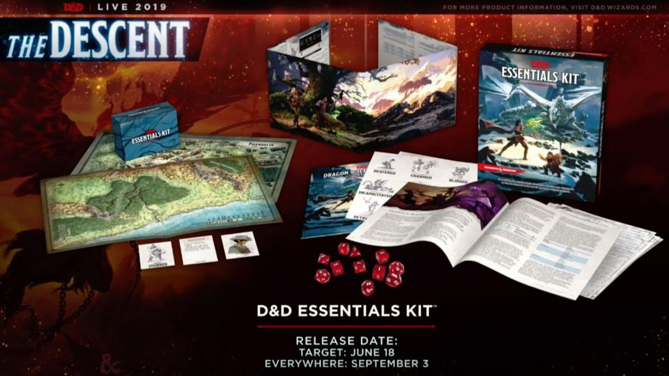 The content of the Dungeons & Dragons Essentials Kit