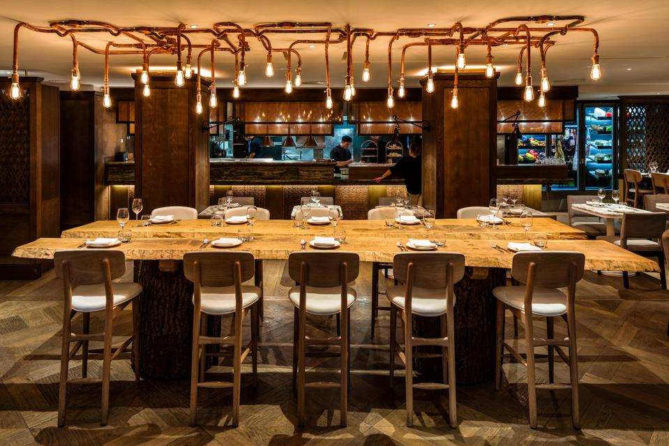 The May Fair Kitchen showcases the best of Spanish and Italian small plates, while also offering signature contemporary Peruvian, Mexican and Japanese dishes.
