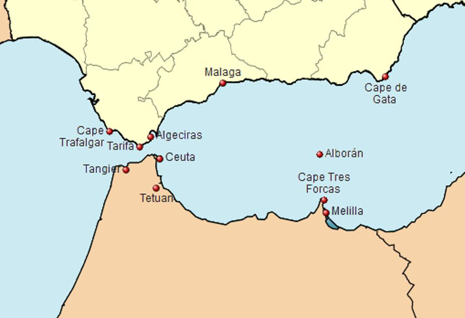Map Of Spain North Africa.Spanish Border Fences The End Of Barbed Wire Dividing Europe From