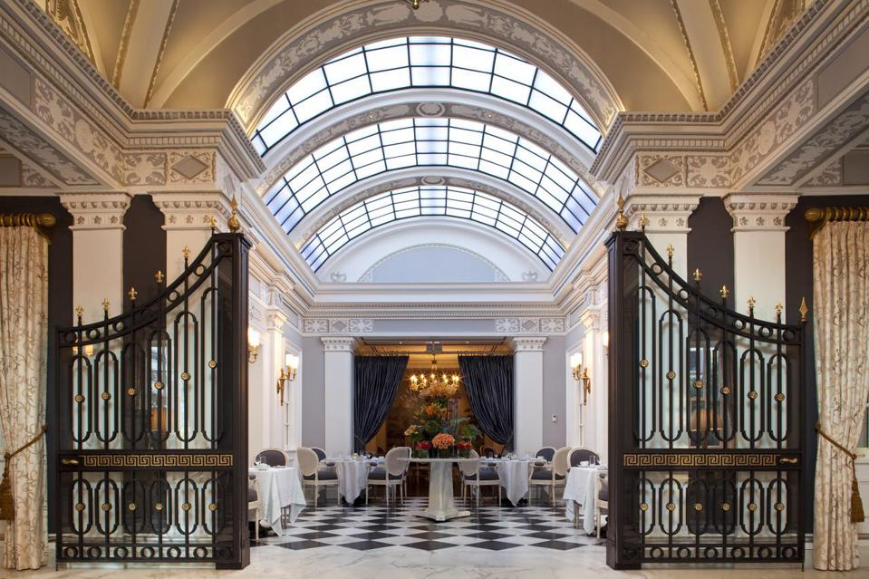 lobby with skylight at The Jefferson