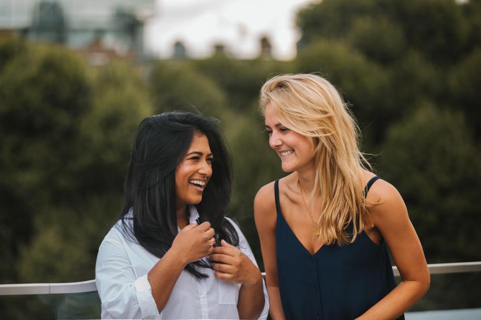 Founders of HANX condoms, Sarah Welsh and Farah Kabir