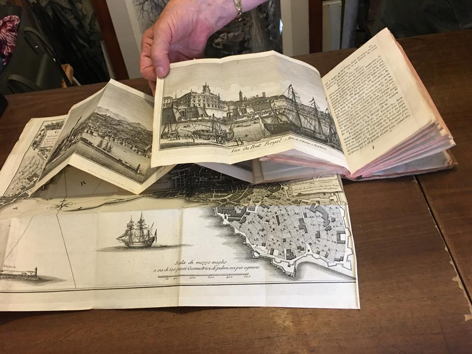 In addition to antique books and prints, Dallai offers a selections of historic maps.