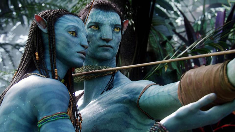 Sam Worthington and Zoe Saldana in James Cameron's 'Avatar'