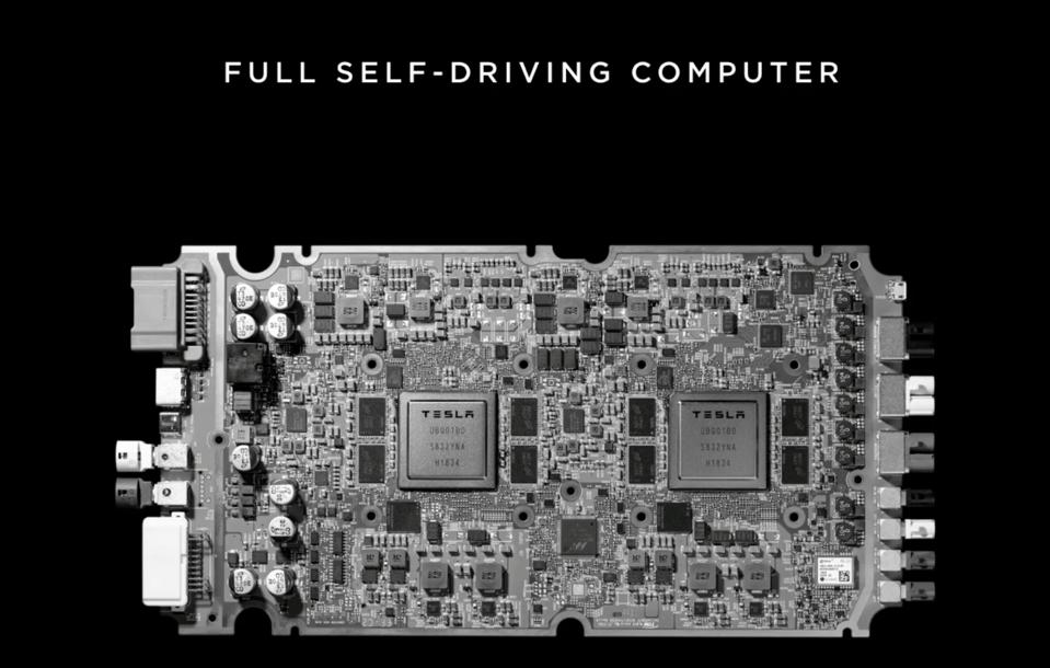 The Tesla FSD card is packing high levels of computer power.