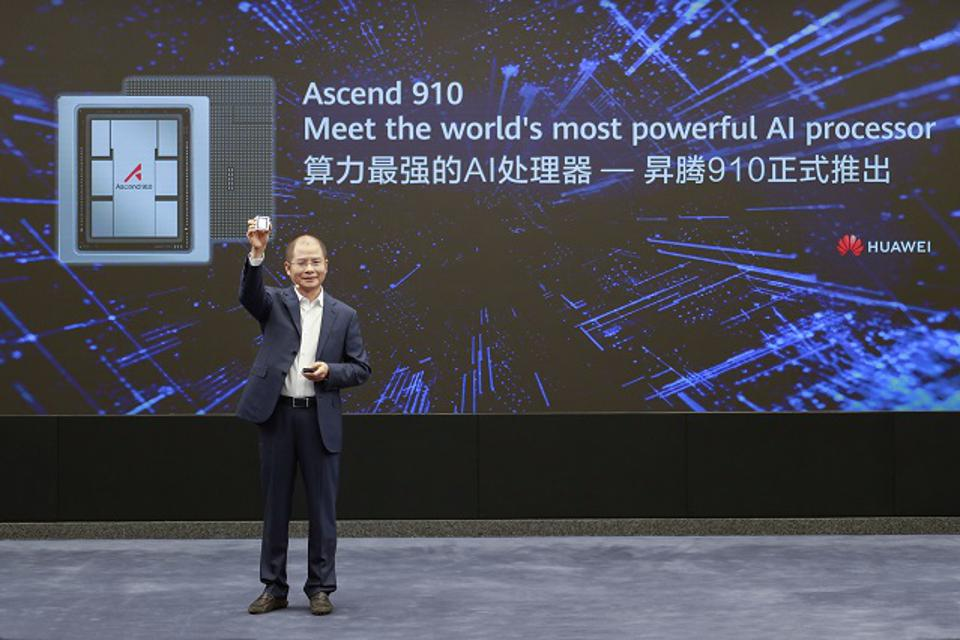 Eric Xu, Rotating Chairman announcing Ascend 910 AI Chip