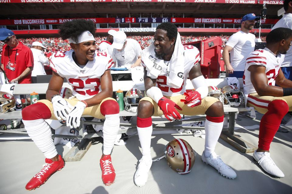 San Francisco 49ers on the bench