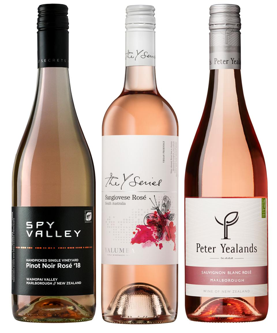 A bouquet of rosés from the islands.