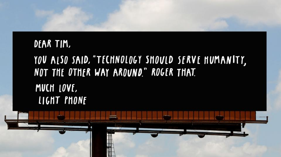 To promote its new minimalist phone, Light Phone is using quotes from Apple CEO Tim Cook.