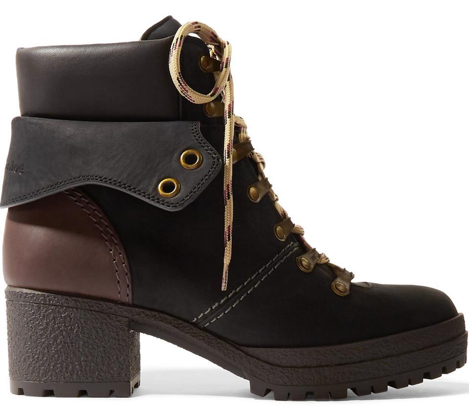 Glej: Chloé Usnjeni čevlji Nubuck