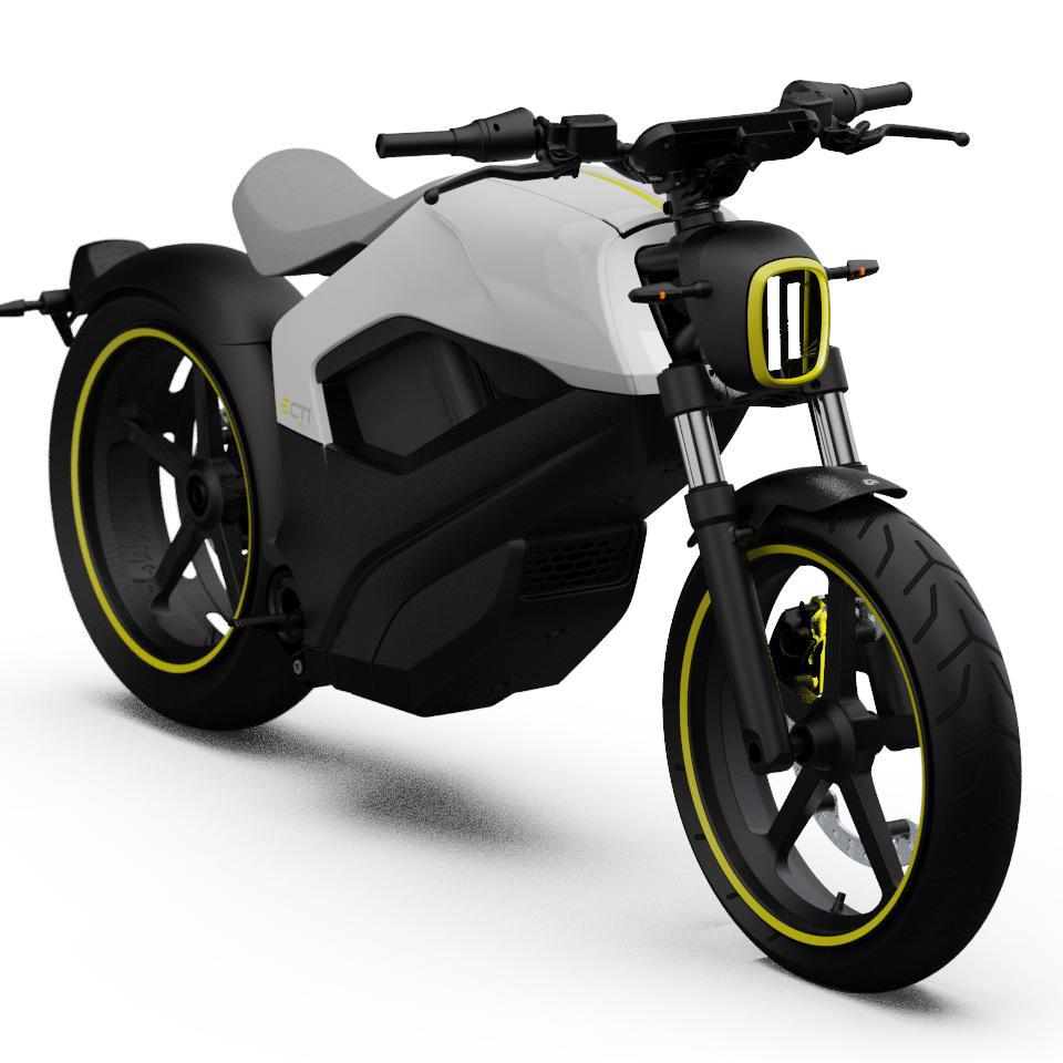 BRP personnel rode this electric motorcycle onto a Vegas stage and it looked pretty close to being production-ready.