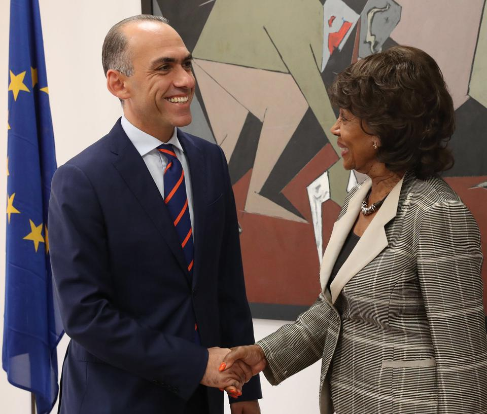 Harris Georgiades commented that he was delighted to have met Chairwoman Maxine Waters
