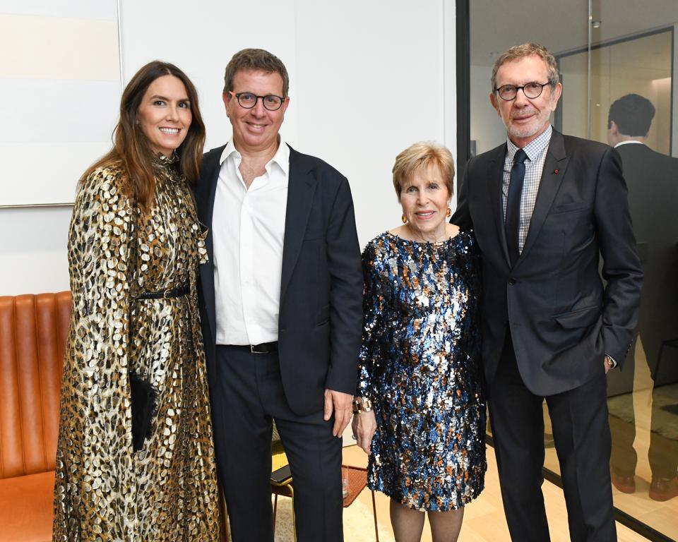 Left to right: Fairfax Dorn, Marc Glimcher, Milly Glimcher and Arne Glimcher.