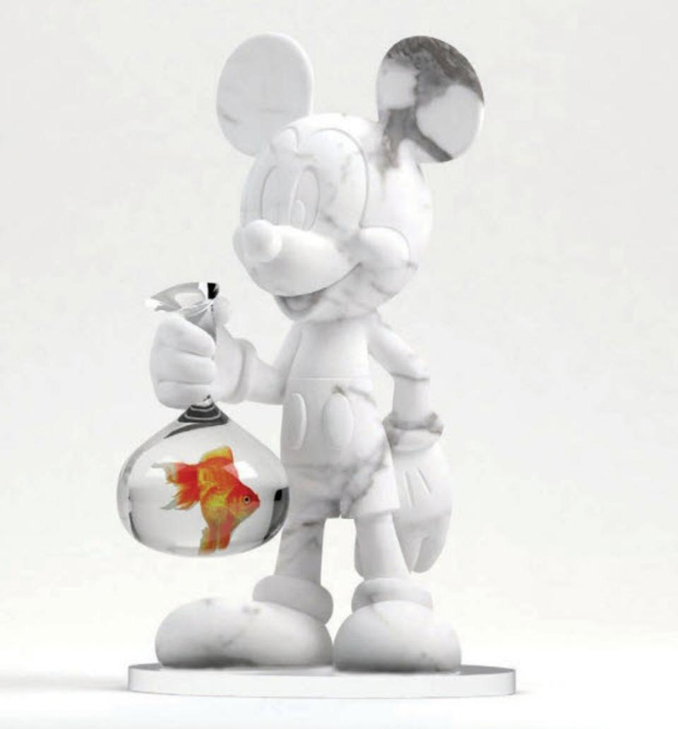 Mickey Mouse Sculpture by The Marbelman