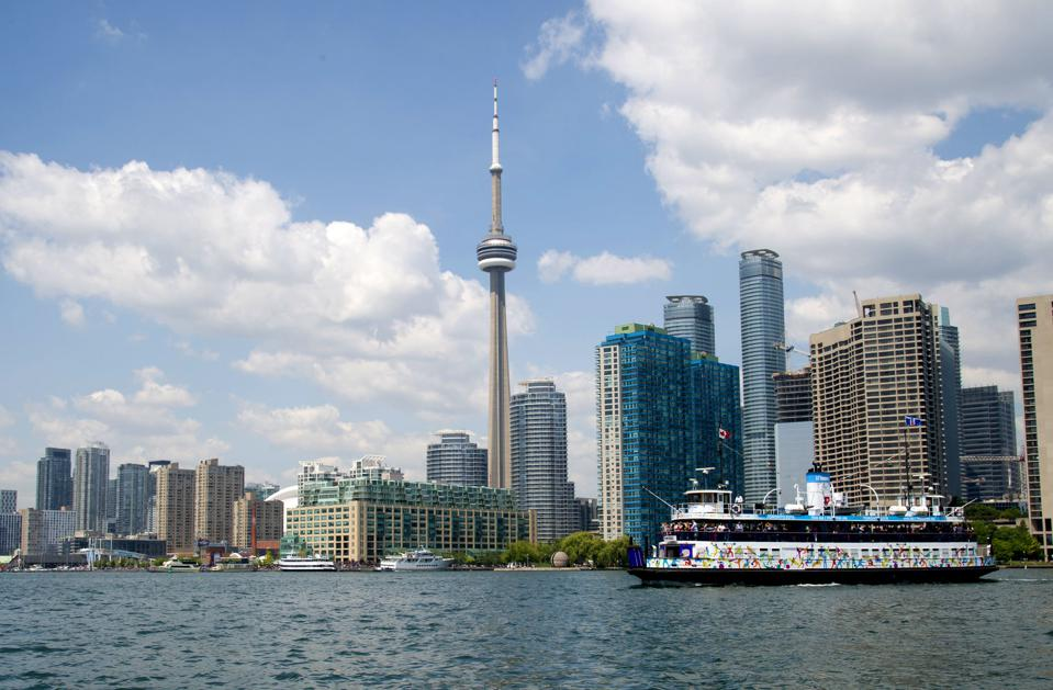 Toronto Island Ferry and the Toronto Waterfront.
