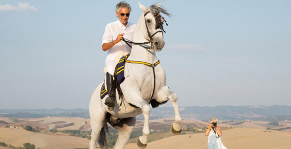 Horseback riding with Andrea Bocelli